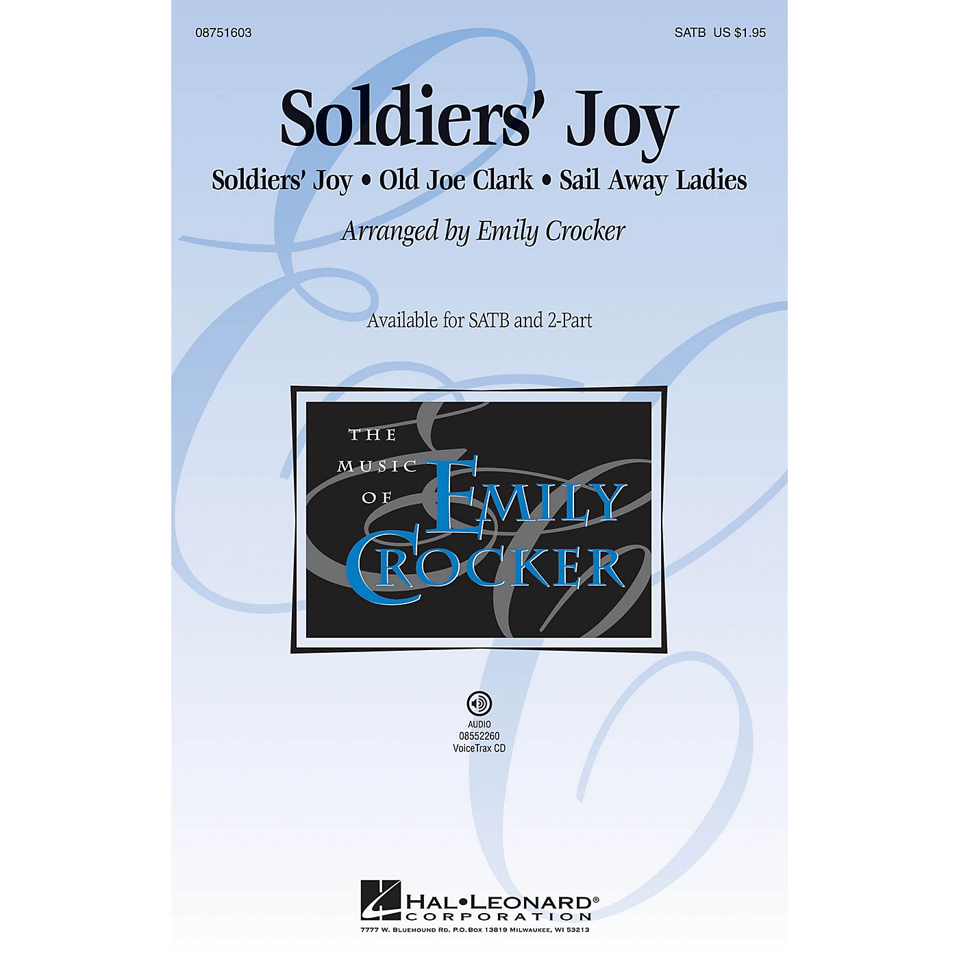 Hal Leonard Soldiers' Joy SATB arranged by Emily Crocker thumbnail