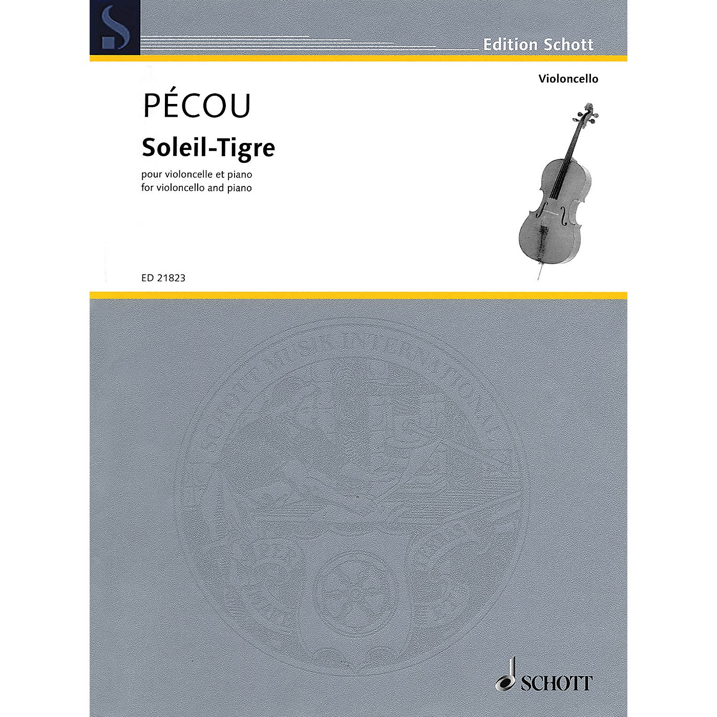 Schott Soleil-Tigre (Cello and Piano) String Series Softcover thumbnail
