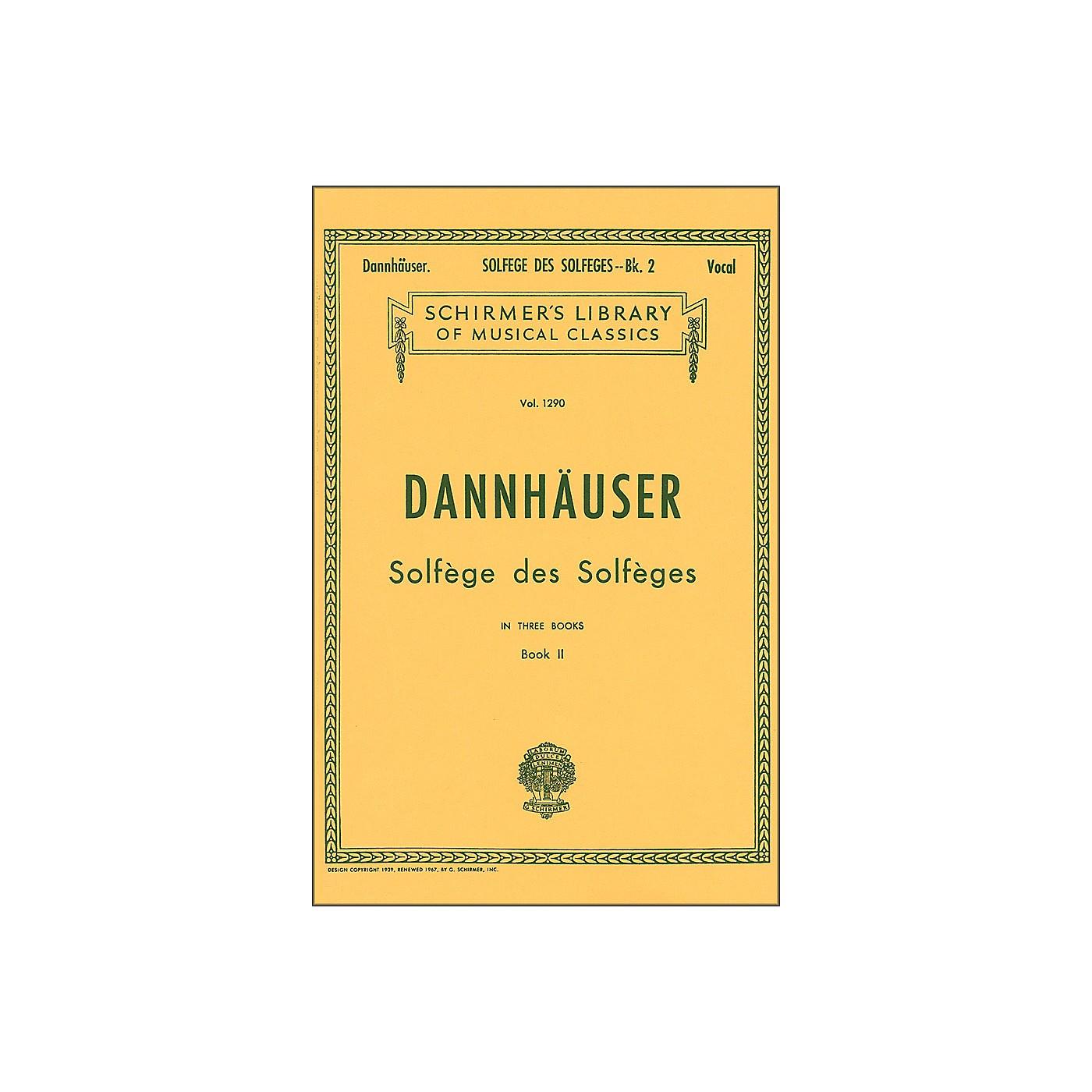 G. Schirmer Solfege Des Solfeges Book 2 Vocal by Dannhauser thumbnail