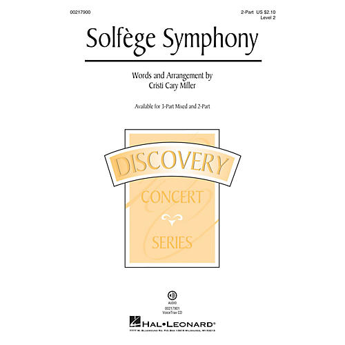 Hal Leonard Solfege Symphony (Discovery Level 2) 2-Part arranged by Cristi Cary Miller thumbnail