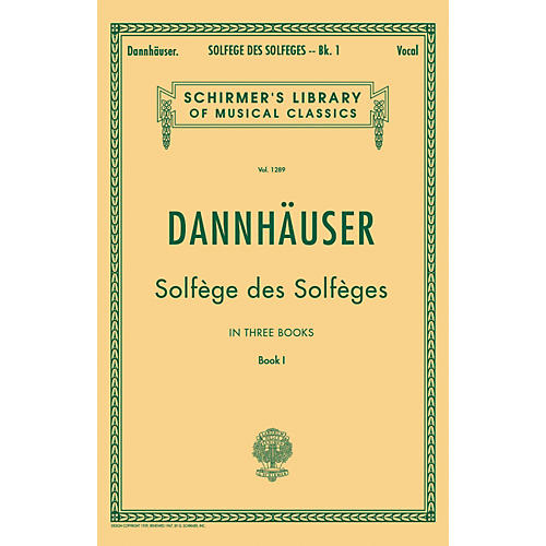 G. Schirmer Solfge des Solfges - Book I By Dannhauser thumbnail