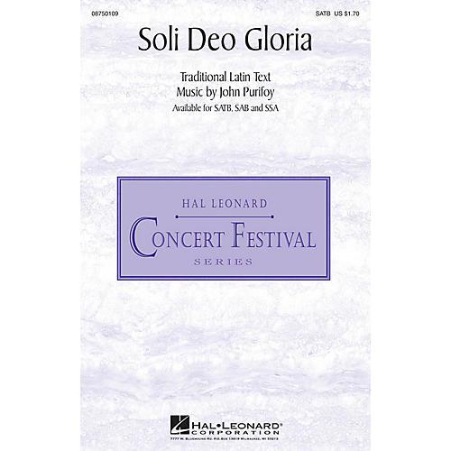 Hal Leonard Soli Deo Gloria SATB composed by John Purifoy thumbnail