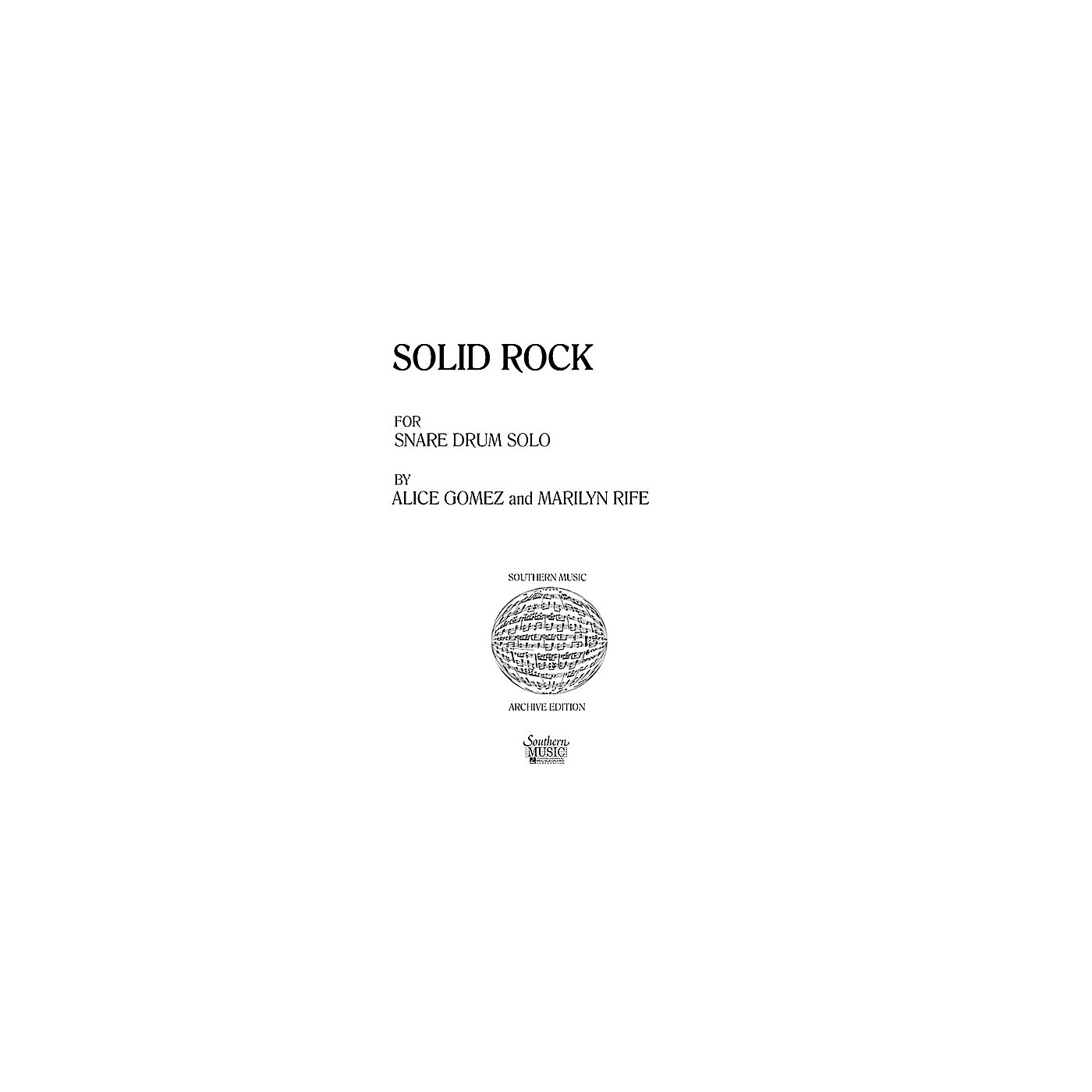 Hal Leonard Solid Rock (Percussion Music/Snare Drum Unaccompanied) Southern Music Series Composed by Gomez, Alice thumbnail