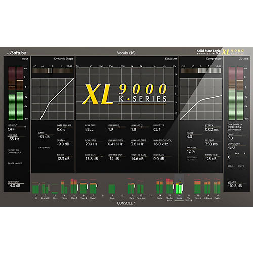 Softube Solid State Logic XL 9000 K-Series Plug-in for Console 1 thumbnail