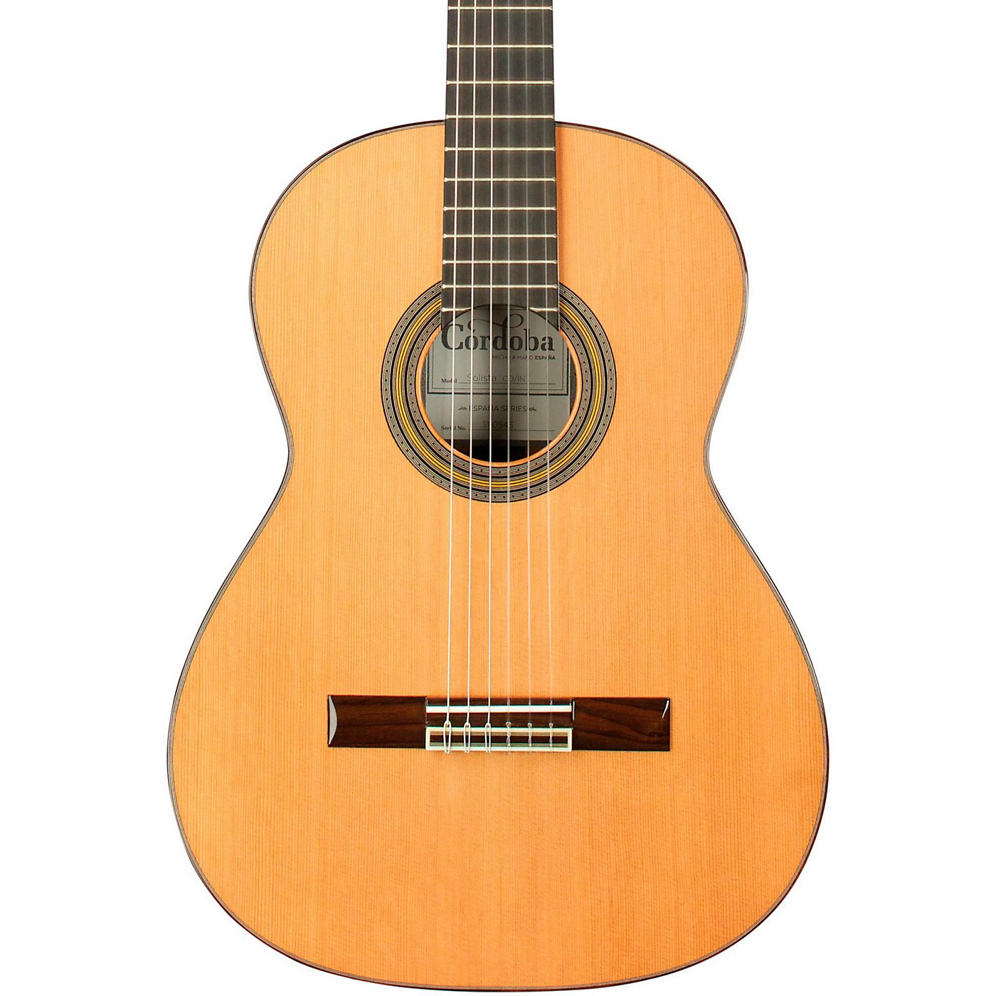 Cordoba Solista CD/IN Acoustic Nylon String Classical Guitar thumbnail