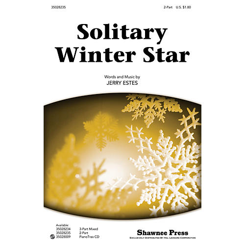 Shawnee Press Solitary Winter Star 2-Part composed by Jerry Estes thumbnail