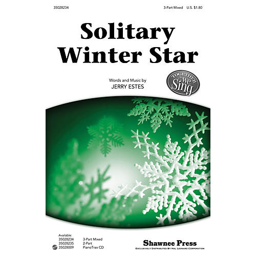 Shawnee Press Solitary Winter Star (Together We Sing Series) 3-Part Mixed composed by Jerry Estes thumbnail