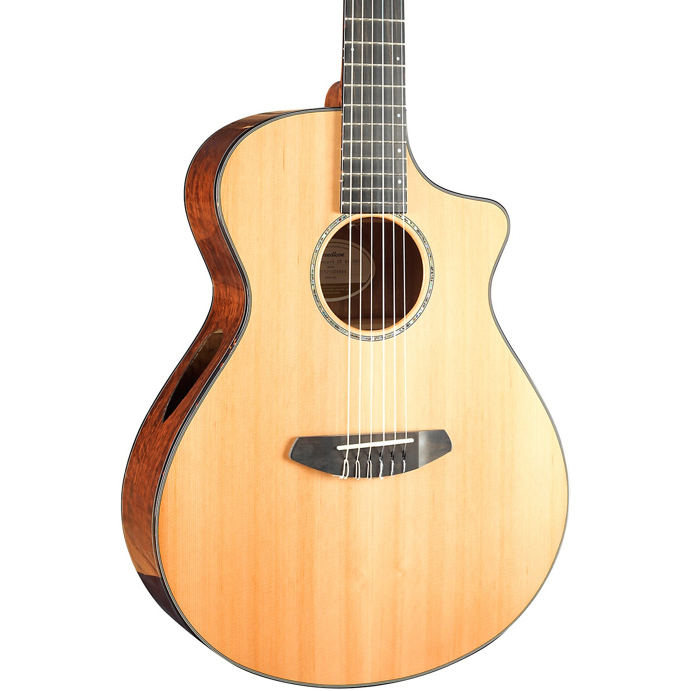 Breedlove Solo Concert Cutaway CE Nylon String Acoustic-Electric Guitar thumbnail