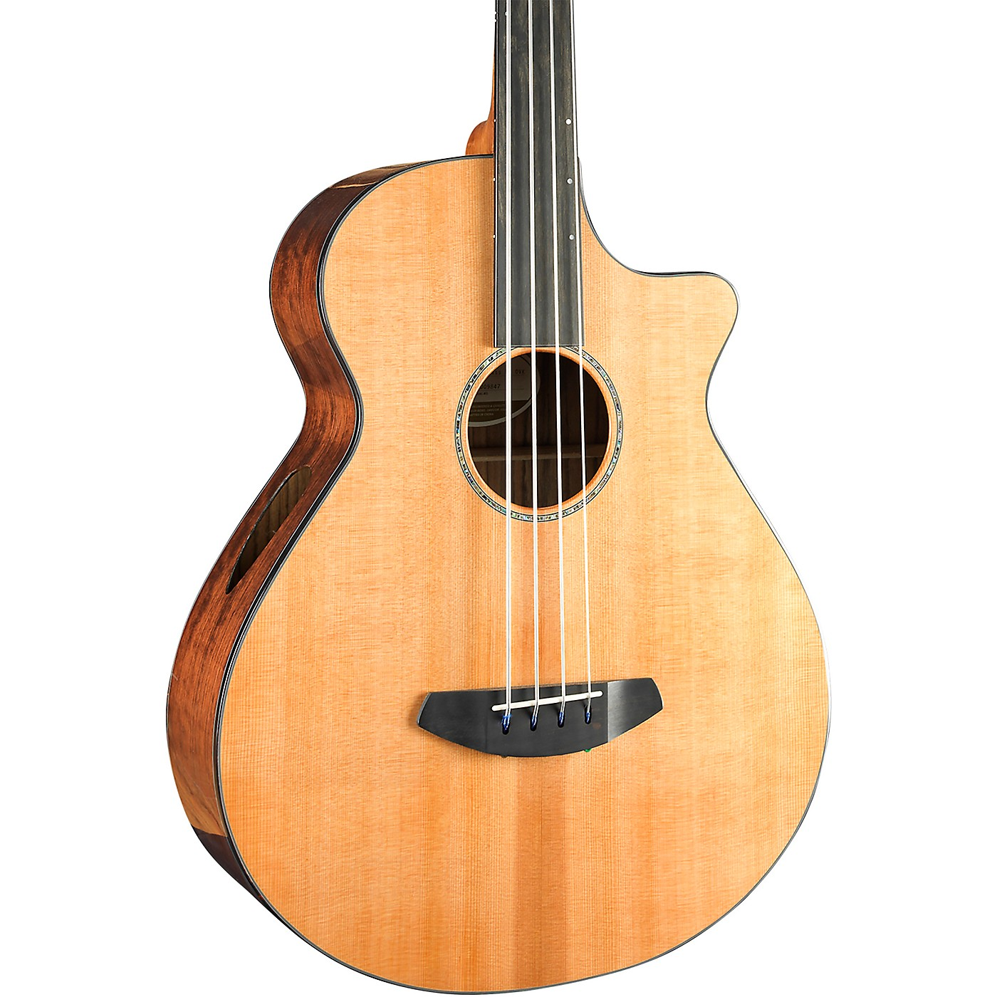 Breedlove Solo Jumbo Fretless Cutaway CE Acoustic-Electric Bass Guitar thumbnail