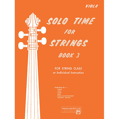 Alfred Solo Time for Strings Book 3 Viola thumbnail