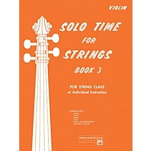 Alfred Solo Time for Strings Book 3 Violin