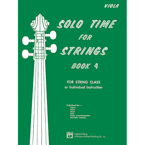 Alfred Solo Time for Strings Book 4 Viola thumbnail