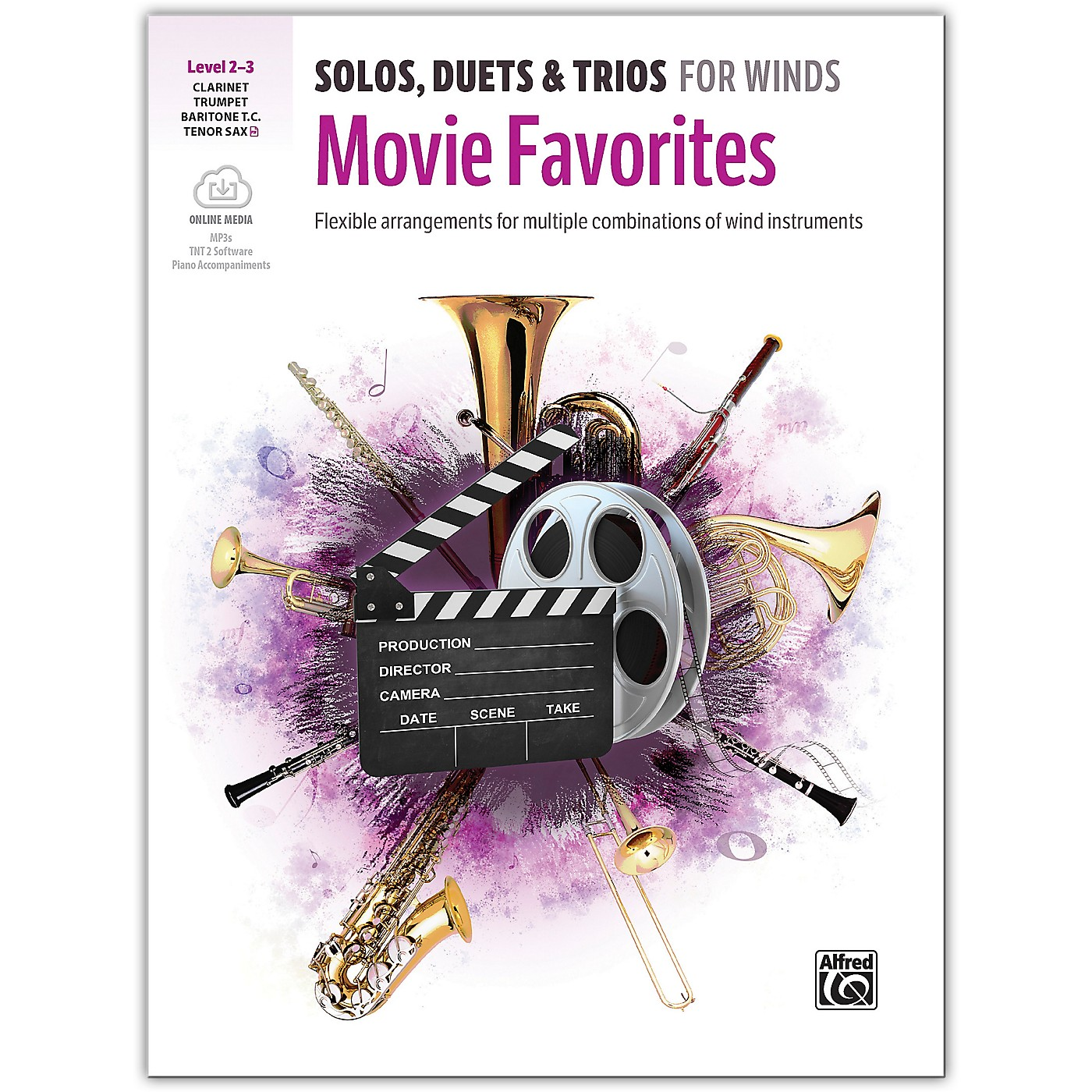 Alfred Solos, Duets & Trios for Winds: Movie Favorites Trumpet, Clarinet, Baritone TC, Tenor Sax 2-3 thumbnail