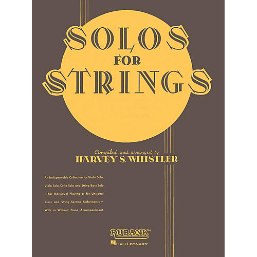 Rubank Publications Solos For Strings - Piano Accompaniment Rubank Solo Collection Series Arranged by Harvey S. Whistler thumbnail