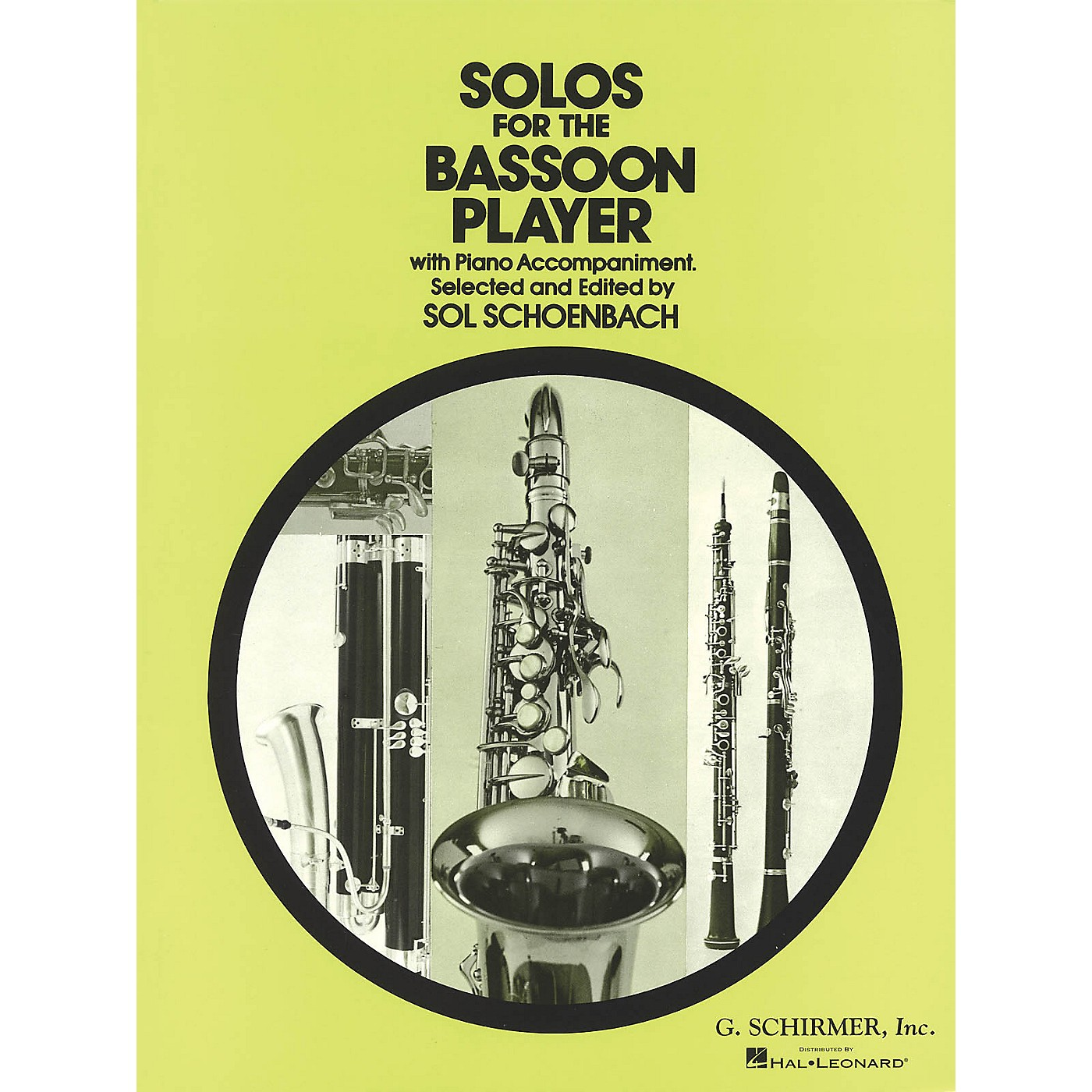 G. Schirmer Solos for the Bassoon Player Woodwind Solo Series by Various Edited by Sol Schoenbach thumbnail