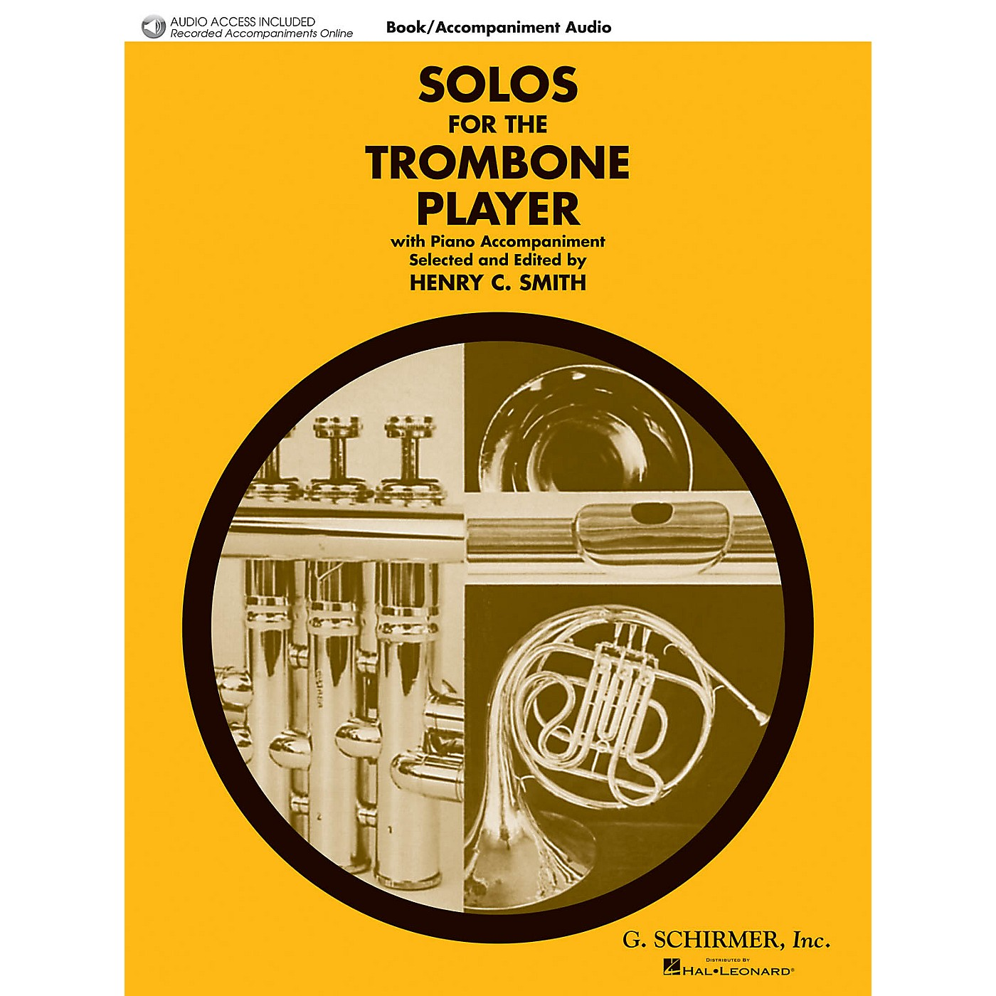 G. Schirmer Solos for the Trombone Player Brass Solo Book/Audio Online Edited by Henry Charles Smith thumbnail