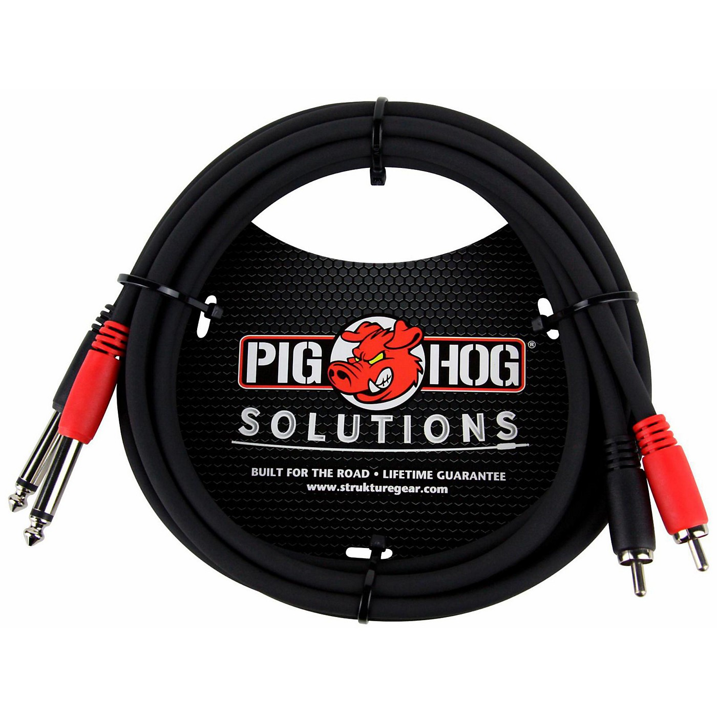 Pig Hog Solutions Dual Cable RCA to 1/4