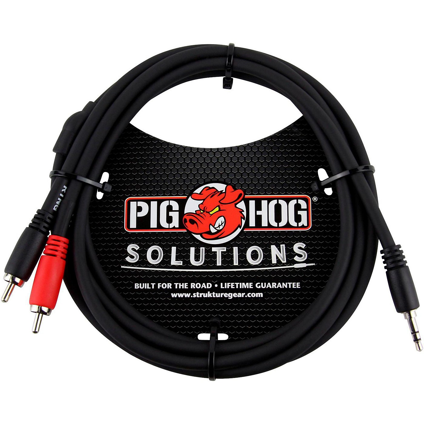 Pig Hog Solutions Stereo Breakout Cable 3.5 mm to Dual RCA thumbnail