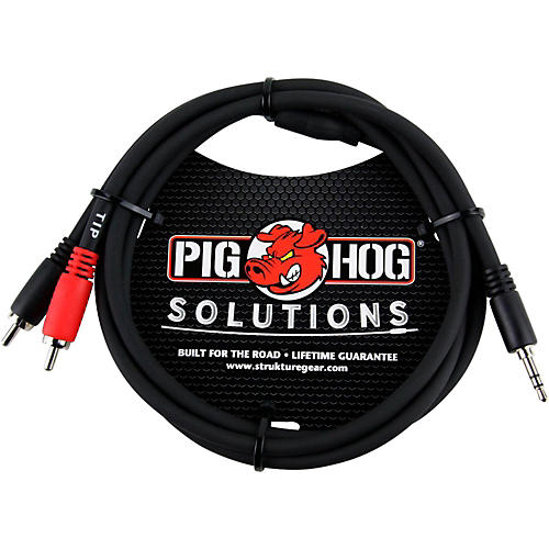 Pig Hog Solutions Stereo Breakout Cable 3.5mm to Dual RCA (3 ft.) thumbnail
