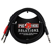 Pig Hog Solutions TRS(M) to Dual 1/4 In. Insert Cable