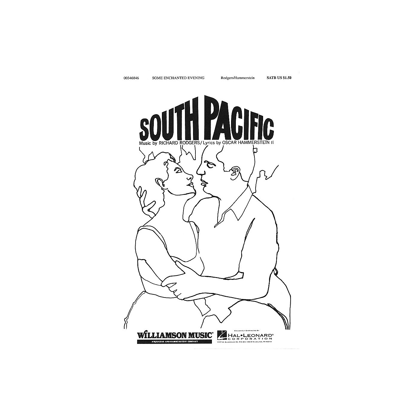 Hal Leonard Some Enchanted Evening SATB arranged by William Stickles thumbnail