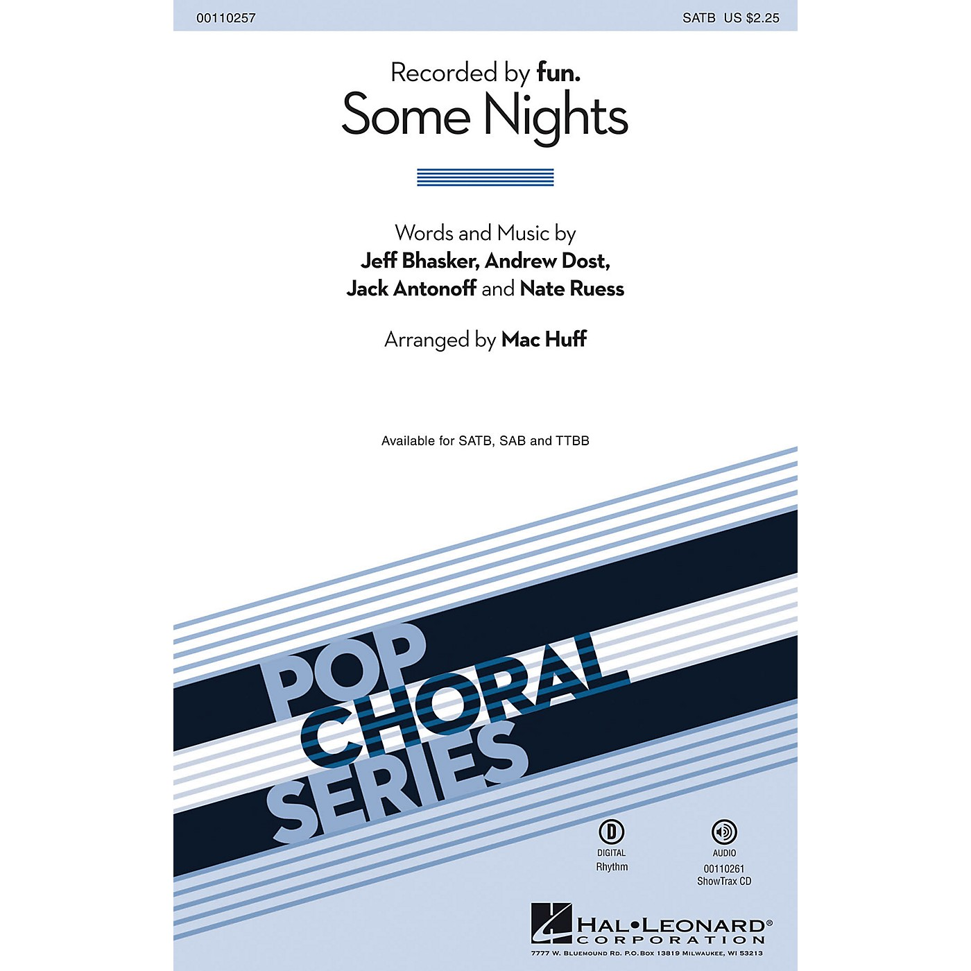 Hal Leonard Some Nights (ShowTrax CD) ShowTrax CD by fun. Arranged by Mac Huff thumbnail