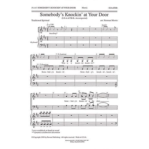 Pavane Somebody's Knockin' at Your Door SATB arranged by Norman Morris thumbnail