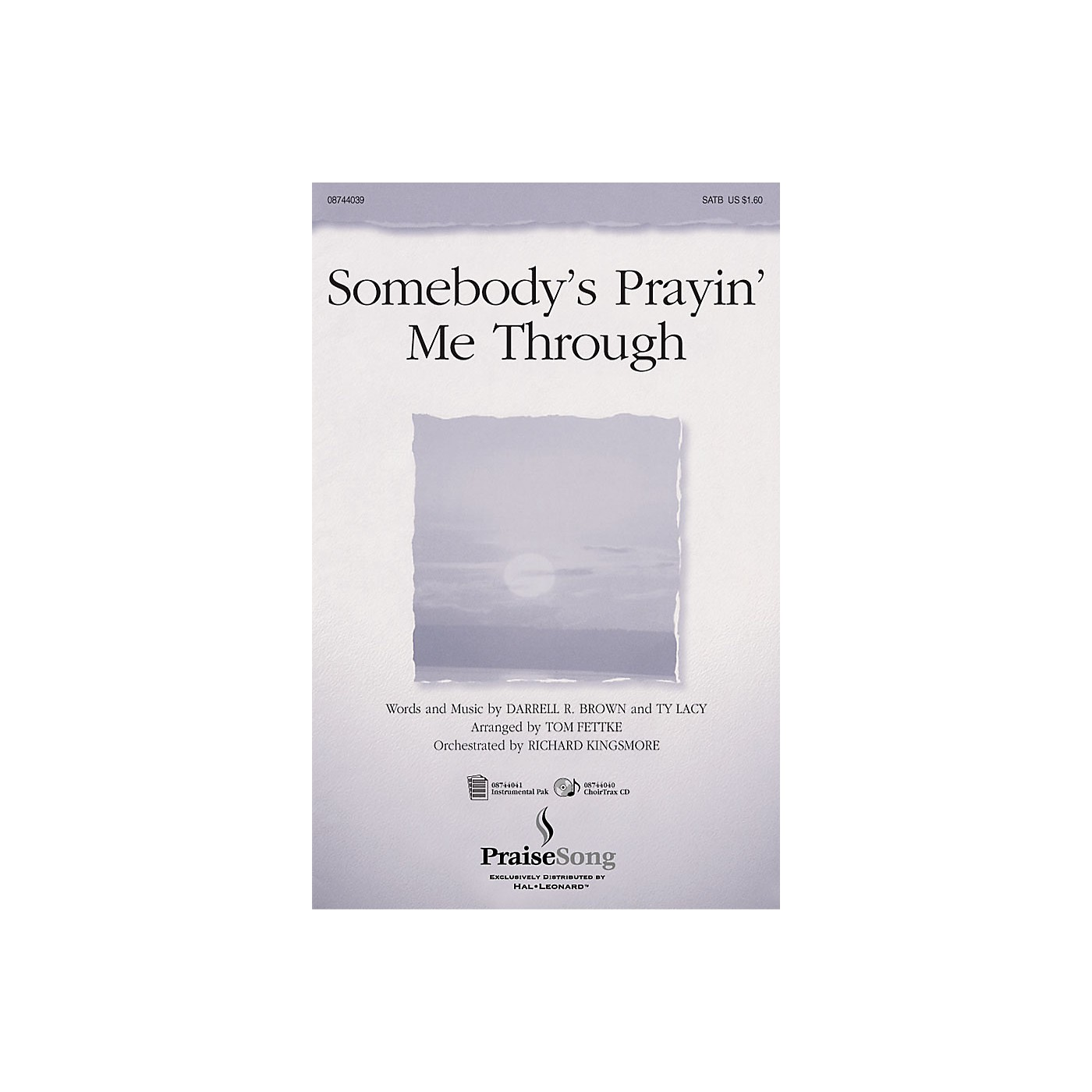 PraiseSong Somebody's Prayin' Me Through SATB arranged by Tom Fettke thumbnail