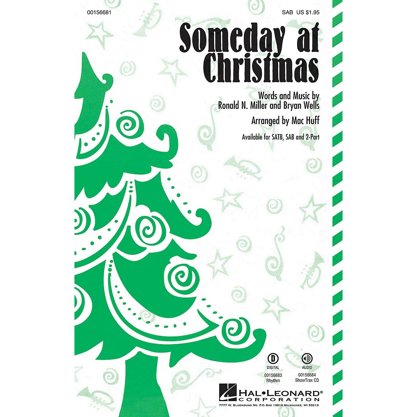 Hal Leonard Someday at Christmas SAB by Stevie Wonder arranged by Mac Huff thumbnail
