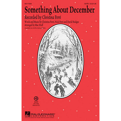 Hal Leonard Something About December SATB by Christina Perri arranged by Mac Huff thumbnail