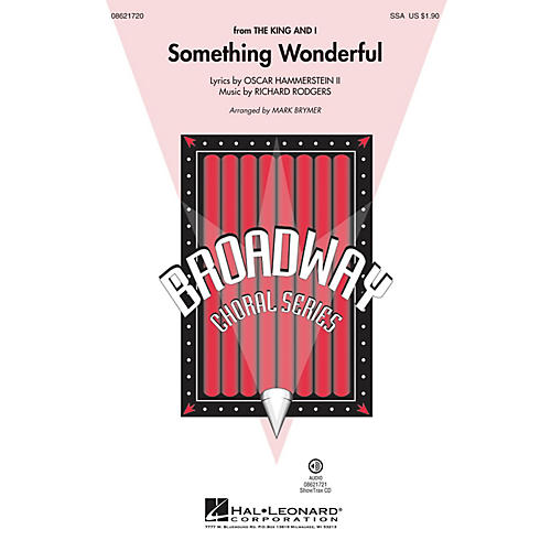 Hal Leonard Something Wonderful (from The King and I) SSA arranged by Mark Brymer thumbnail
