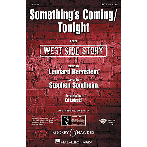 Hal Leonard Something's Coming/Tonight (from West Side Story) SATB Arranged by Ed Lojeski thumbnail