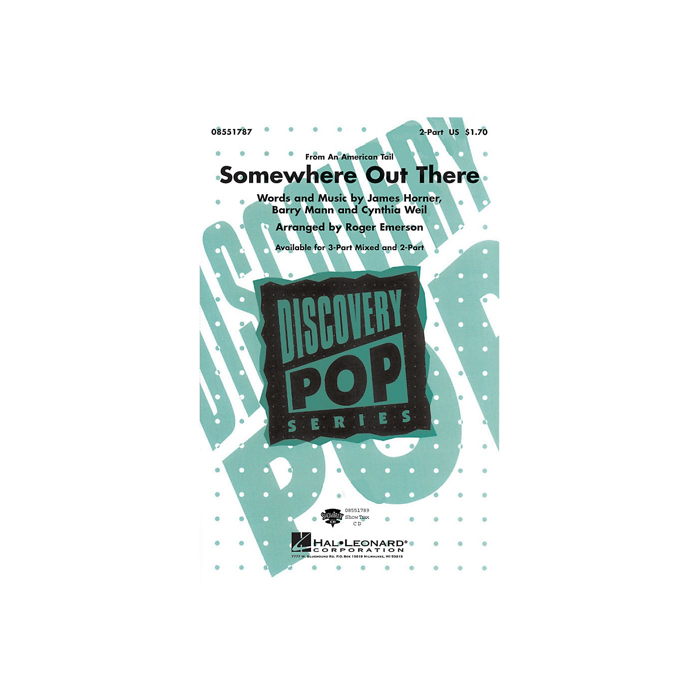 Hal Leonard Somewhere Out There 2-Part arranged by Roger Emerson thumbnail