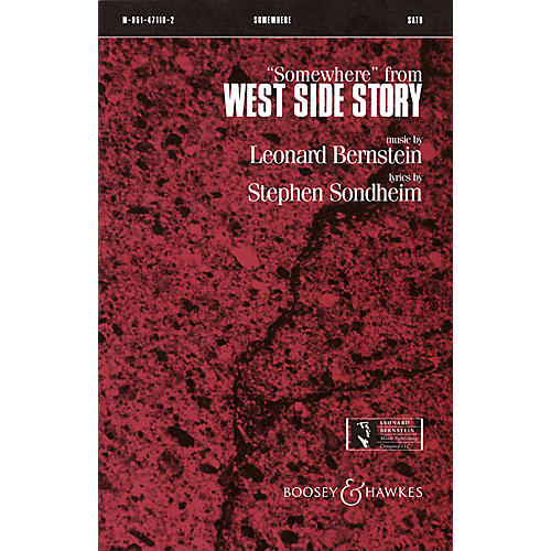 Leonard Bernstein Music Somewhere (from West Side Story) (SATB) SATB Arranged by William Stickles thumbnail