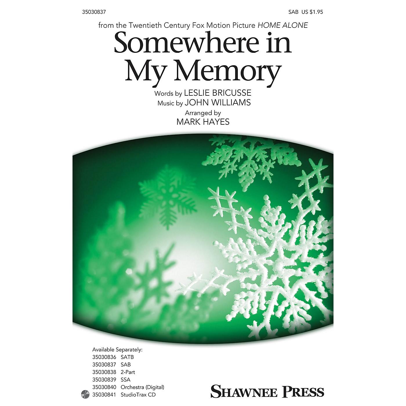 Shawnee Press Somewhere in My Memory SAB arranged by Mark Hayes thumbnail
