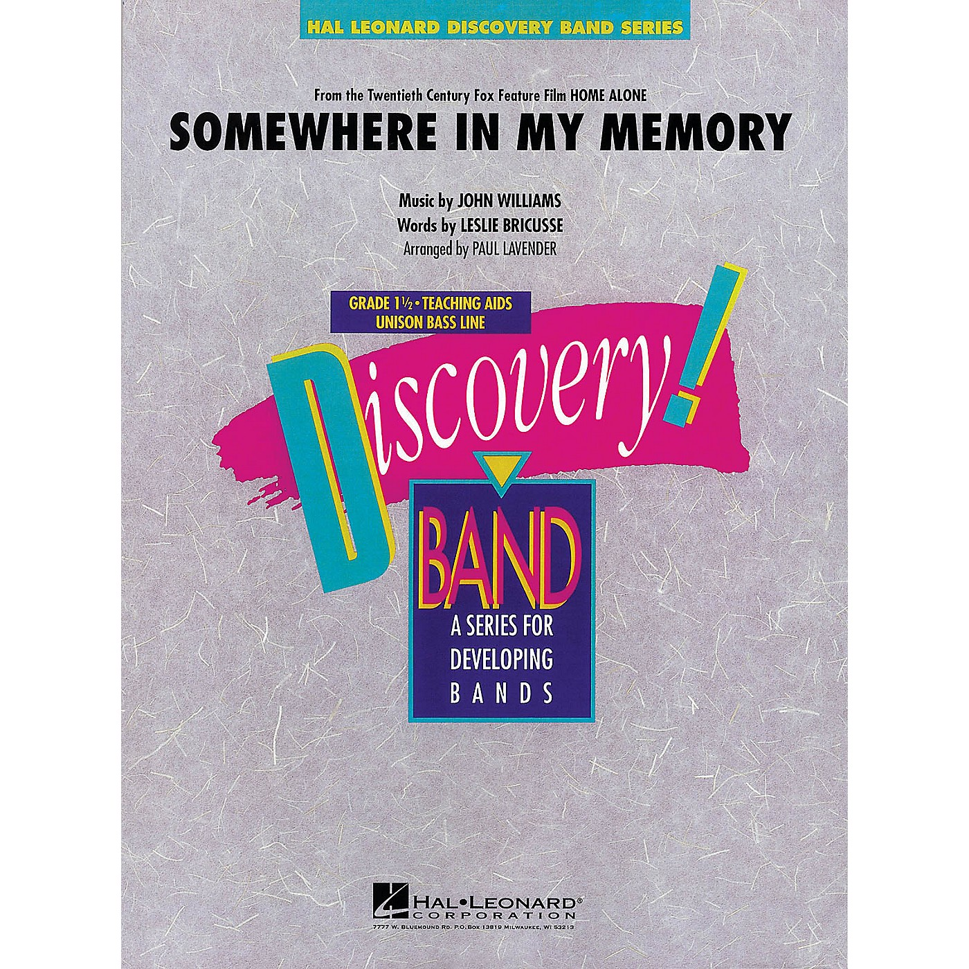 Hal Leonard Somewhere in My Memory (from HOME ALONE) Concert Band Level 1.5 Arranged by Paul Lavender thumbnail