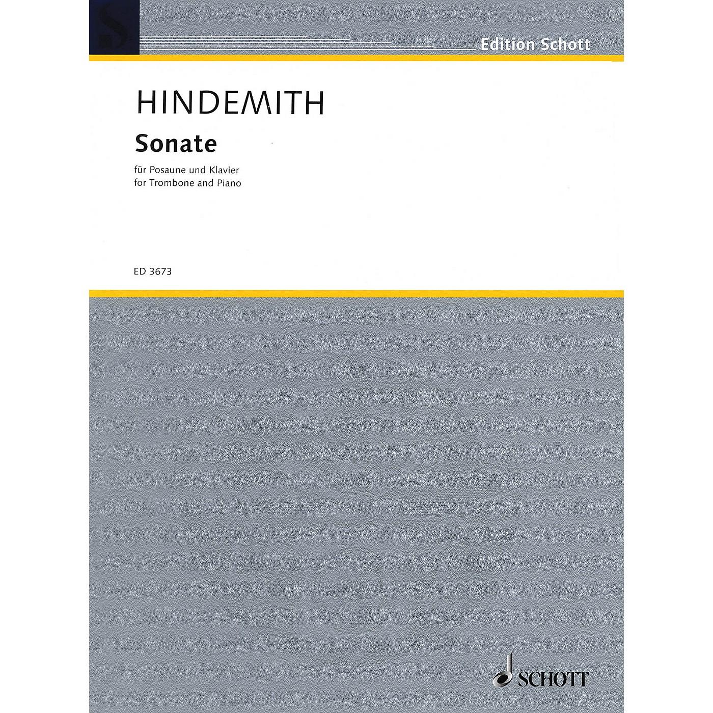 Schott Sonata (1941) (Trombone and Piano) Schott Series thumbnail