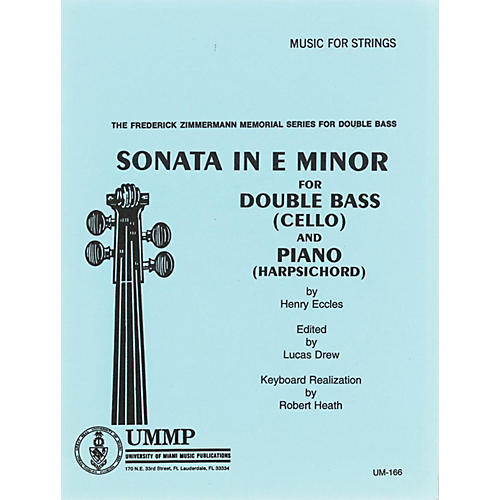 Alfred Sonata # 2 in E Minor for Str Bass By Henry Eccles, Lucas Drew Kybd Realization by Robert Heath Book thumbnail