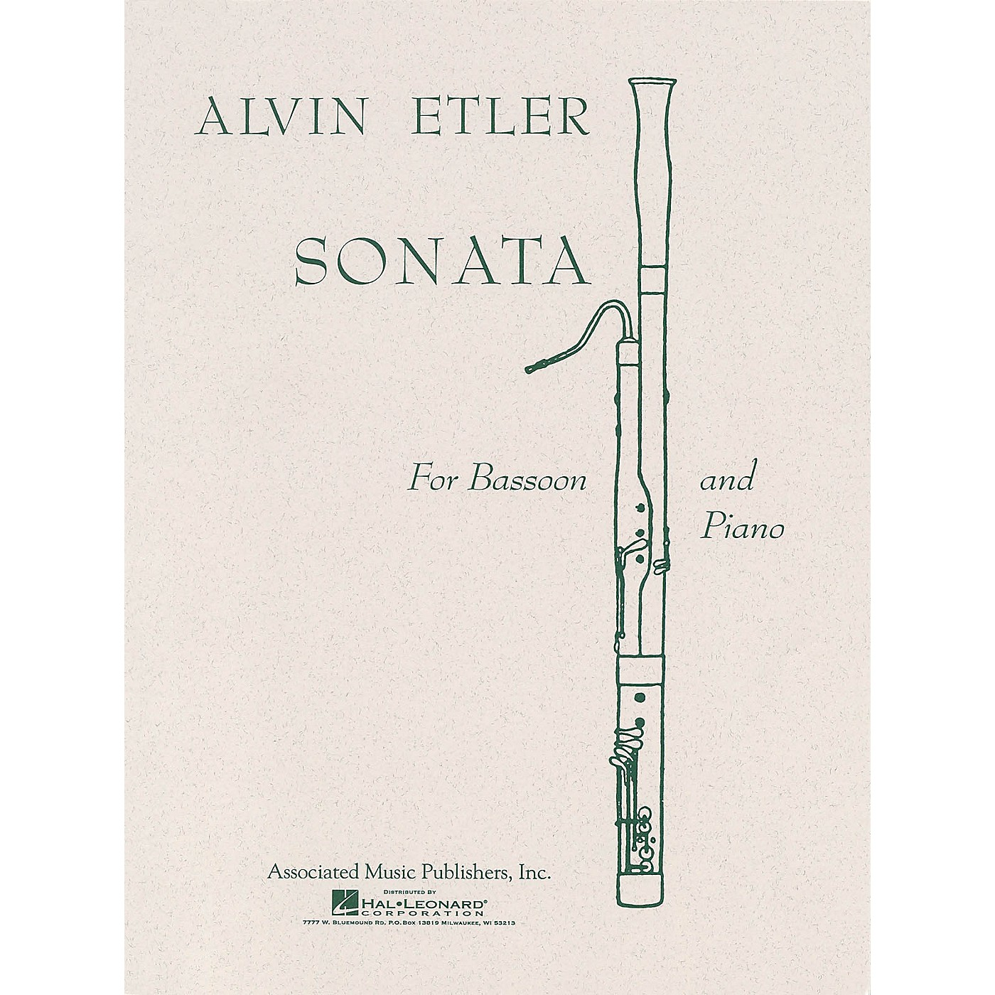 Associated Sonata (Bassoon with Piano Accompaniment) Woodwind Solo Series by Alvin Etler thumbnail