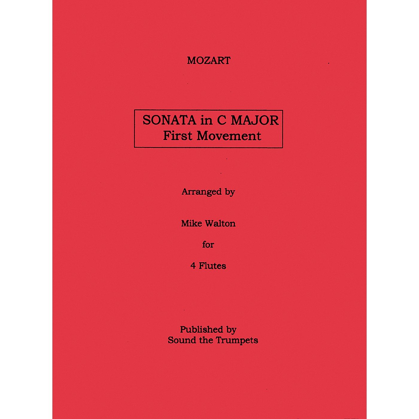 Carl Fischer Sonata In C Major Mvt.1 (Book + Sheet Music) thumbnail