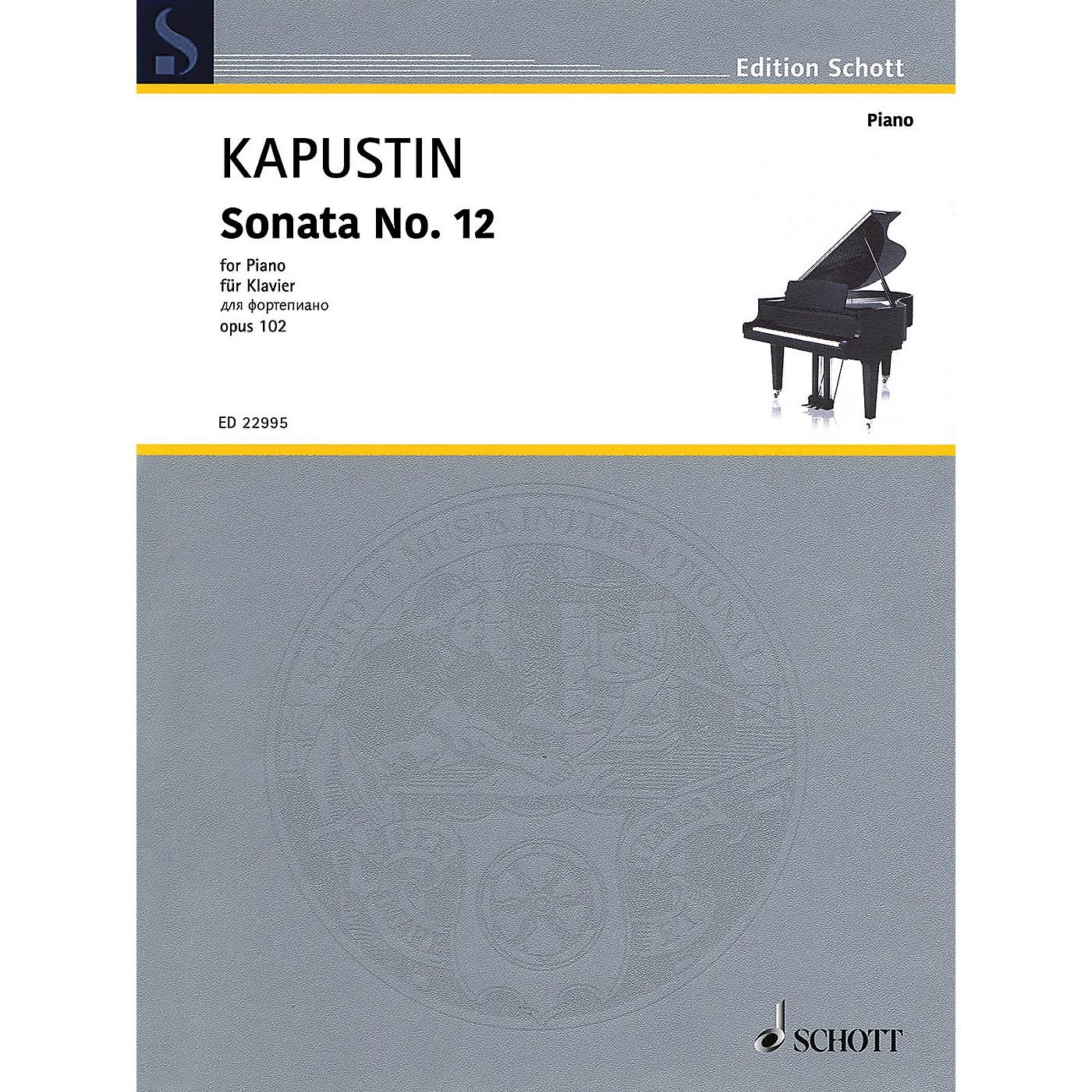 Schott Sonata No. 12, Op. 102 (Piano Solo) Piano Solo Series Softcover thumbnail
