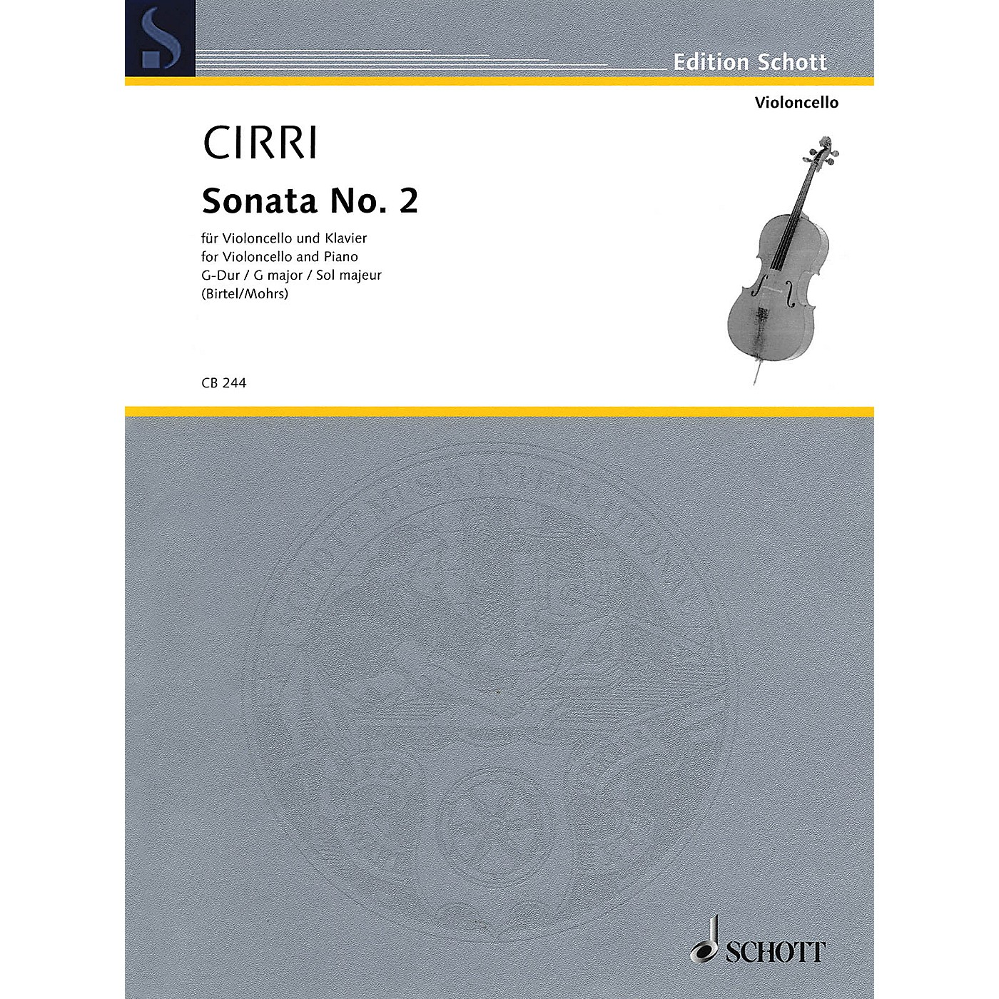 Schott Sonata No. 2 in G Major Schott Softcover Composed by Giovanni Battista Cirri Edited by Rainer Mohrs thumbnail