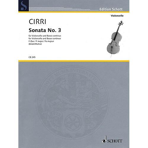 Schott Sonata No. 3 in F Major (Violoncello and Piano (Basso ad lib.)) String Series Softcover thumbnail