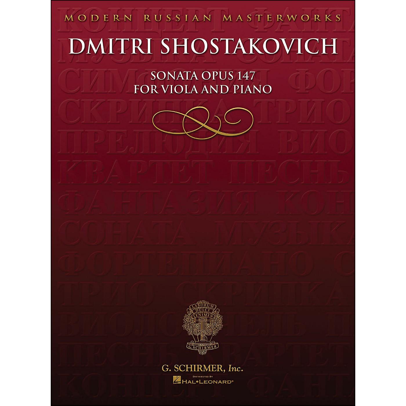 Hal Leonard Sonata Op 147 Viola Piano Library Of Russian Soviet Music By Shostakovich thumbnail