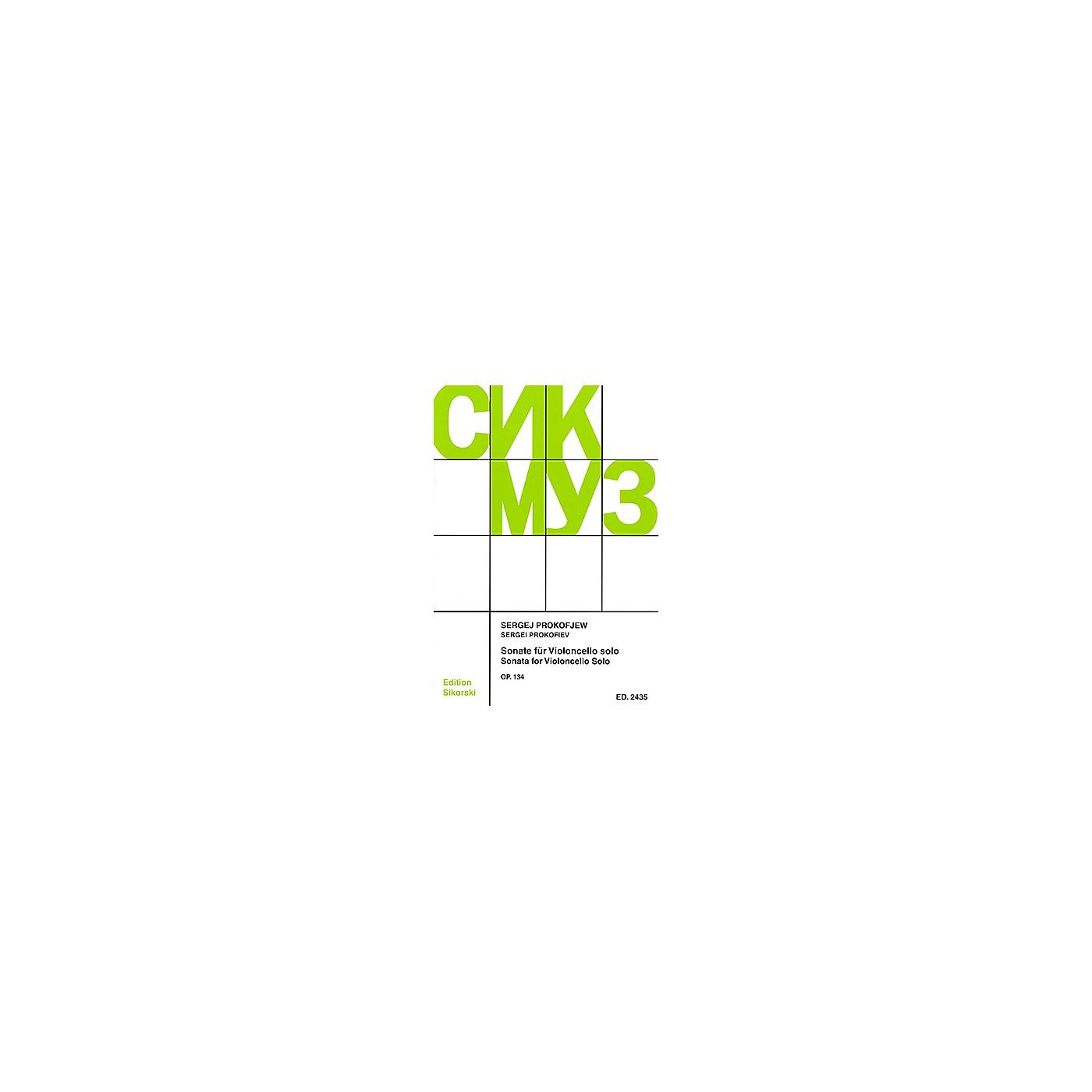 Sikorski Sonata Op. 134 (Violoncello Solo) String Series Softcover thumbnail