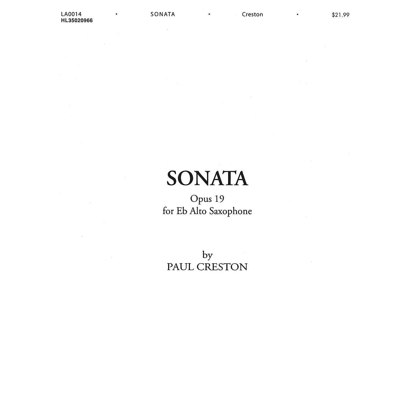 Shawnee Press Sonata, Op. 19 (for E-Flat Alto Saxophone) Shawnee Press Series Book thumbnail
