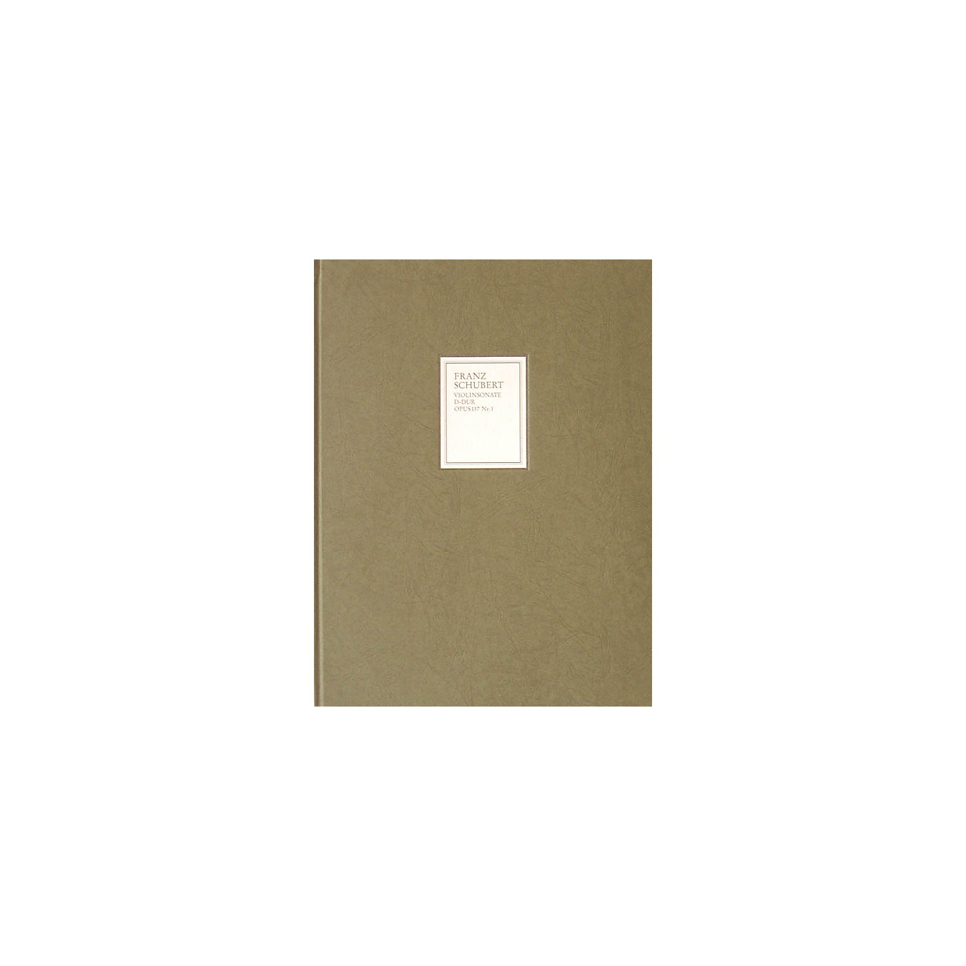 G. Henle Verlag Sonata (Sonatina) for Piano and Violin in D Major Op. 137, No. 1 D384 Henle Facsimile Series Hardcover thumbnail