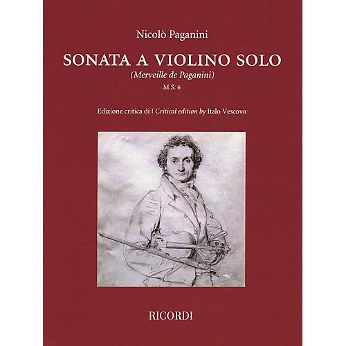Ricordi Sonata a Violino Solo (Critical Edition by Italo Vescovo) String Series Softcover thumbnail