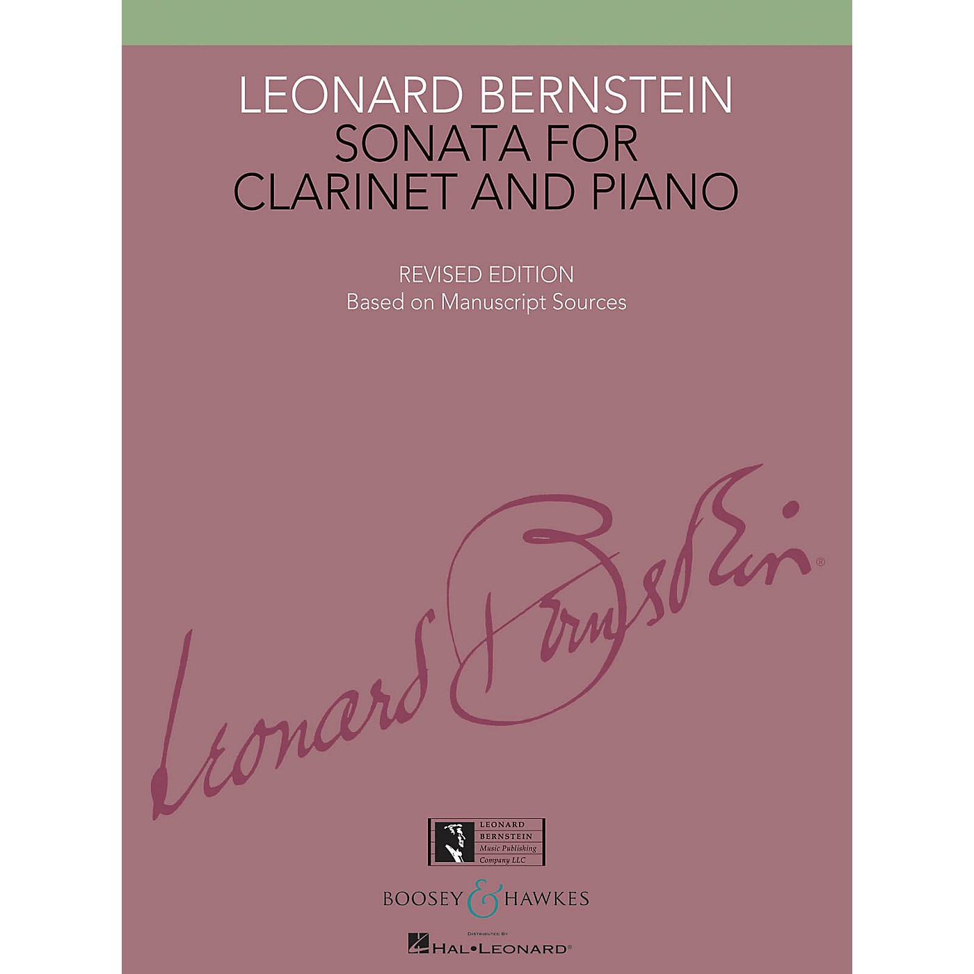 Boosey and Hawkes Sonata for Clarinet and Piano Boosey & Hawkes Chamber Music Series Composed by Leonard Bernstein thumbnail
