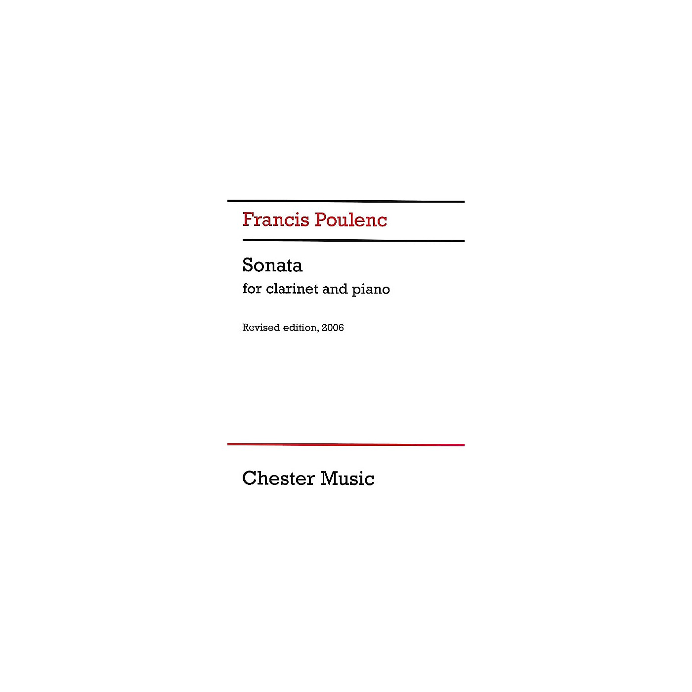Chester Music Sonata for Clarinet and Piano (Revised Edition, 2006) Music Sales America Series thumbnail